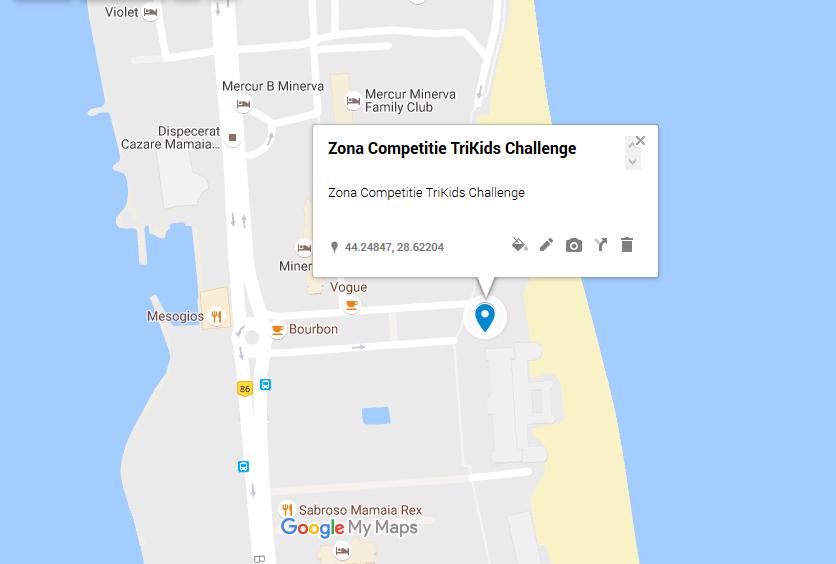 harta zona desfasurare TriKids challenge mamaia 2016